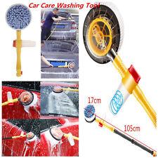 Car Revolving Care Washing Brush Sponge Cleaning Car Wash Brush Extendable Pole