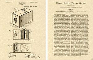 Eastman Kamera Lack Kunstdruck Bereit Bis Rahmen George 1887 1st Box Erstes