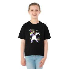 Dabbing Unicorn Girls Graphic Humor T-Shirt Cute Colorful Tee