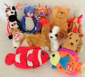 Ty Beanie Babies Animals & Zodiac Animals, Dogs, Cats, Fishs, Tigers, Snake, NWT