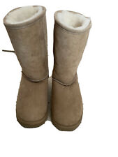 Suede Boots Shepherd Of Sweden 38 Real Fur Brown 5 Pull On Mid Calf