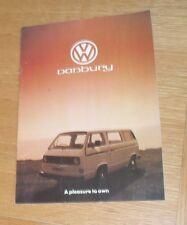 Volkswagen VW T2 Danbury Motor Caravan / Camper Brochure 1981-1982