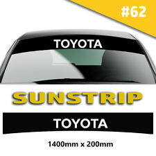 For Toyota Sunstrip Car Stickers Decal Graphics Windscreen Stripes