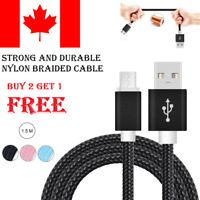 1.5 M Micro USB Braided Data Sync Charging Cable For Samsung LG Android