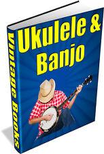UKULELE & BANJO 29 Rare Vintage Books on DVD String Instuments