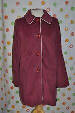 Vintage veloura Junior Damen Soft Plum Coat SZ 13/14 Chic USA gemacht
