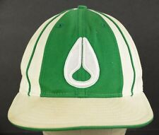 Nixon Watch Logo White Green New Era Baseball Hat Cap Fitted 7 1/4 AS IS