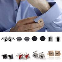 Men's Rhinestone Crystals T-Shirt Cufflinks Mini Sleeve Accessory Wedding Party