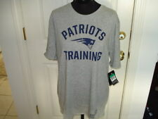 New England Patriots Training Men's Dri Fit Gray T-Shirt by Nike New SZ Large
