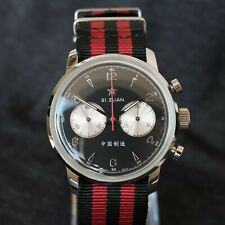 Seagull 1963 42mm Hand Wind Mechanical Chronograph With Black Dial #6488-2901B