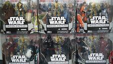 Star Wars DROID FACTORY COMPLETE SET of 6 figures + Build C-3PX 2008 sealed!