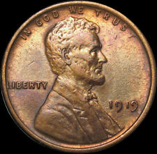 1919 Lincoln Wheat Cent Penny Cleaned Free Mult Shipping (D 1877)