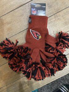 Arizona Cardinals Cheerleader NFL Spirit Fingerz Pom Pom Gloves Women & Girls