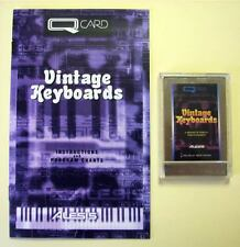 Alesis Vintage Keyboards QCard w/Booklet, Case, LIFETIME Warranty QS Card Rare