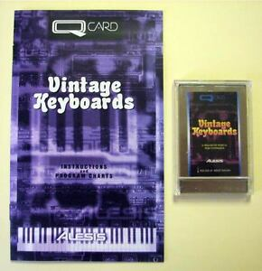 Alesis Vintage Keyboards QCard w/Booklet, Case, LIFETIME Warranty QS Card Rare