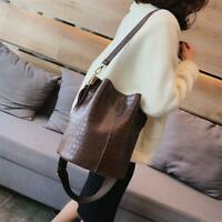 leather Stone Pattern Crossbody Shoulder Bucket  Fashion handbag For Women