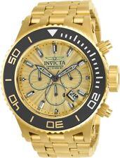 New Mens Invicta 23937 Subaqua Chronograph Gold Tone Bracelet Watch
