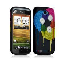 Housse coque étui gel pour HTC One S motif LM08+ Film protecteur