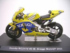 Honda RC211V #3  M. Biaggi  MotoGP 2003  1:24  IXO   NEU & OVP