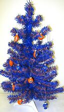 Florida Gators Blue & Orange 2FT Christmas Tree W/12 Assorted Football Ornaments