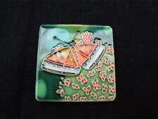 Céramique papillon aimants de réfrigérateur boîte de 4.