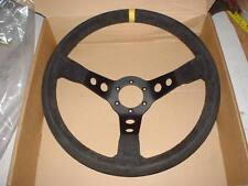 escort cosworth evo impreza etc rally car 350mm suade steering wheel,90mm dish.