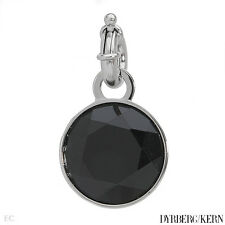 DYRBERG/KERN of DENMARK! Desaray Collection StSl Pendant with Black Crystal