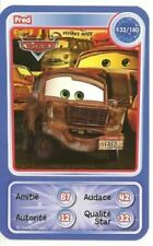 CARTE COLLECTOR DISNEY PIXAR AUCHAN 2010 NUMERO 132 FRED collection CARS