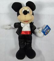 "Disney Mickey Mouse Tuxedo Plush Toy 14"" Soft Doll Stuffed NWT"