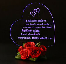 Home Decoration Ideas Birthday Gifts For Women LED Light Heart Decorating Roses