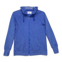 Champion Authentic Full Zip Hoodie Sweat Shirt Womens Size M Medium Blue