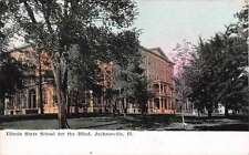 Jacksonville Illinois State School for the Blind antique pc Z11793