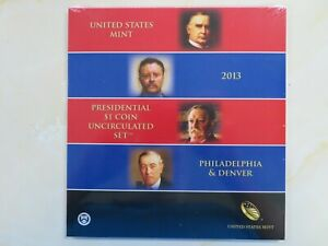 2013 P & D Presidential Dollars set Uncirculated US Mint Issued 8 coins SEALED