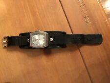 mens fossil watch leather strap (working condition-needs Battery)