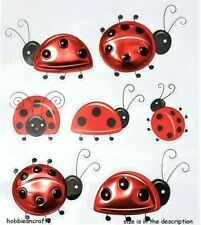 RECOLLECTIONS 3-D STICKERS - LADYBIRDS BUGS INSECTS - METALLIC LADYBUGS