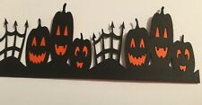 Halloween Pumpkin Fence Border Die Cut Handmade With CardStock, Paper Piecing