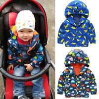 Boys Kids Children Waterproof Stormbreak Windbreak Zip Jackets Rain Coat Clothes