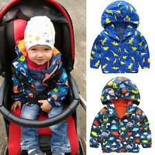 Lovely Kids Boys Waterproof Windproof Hooded Rain Coat Jacket Outerwear Clothes