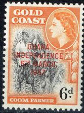 British Gold Goast Cocoa Plants Farmer stamp 1965 MLH