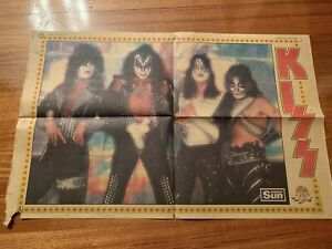 Kiss Poster 1980 Sunday Sun
