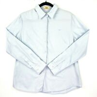 RM Williams Women's Size 12 Light Blue Long Sleeve Collared Button Up Top