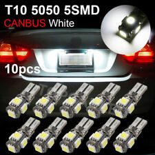 10x T10 5050 LED 5SMD Canbus 194 501 Error Free W5W White Car Side Light Bulbs