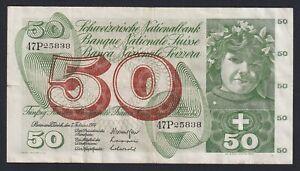 Svizzera / Suisse 50 francs 1974  BB/VF  B-07