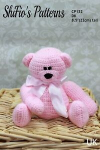 Crochet Pattern for Bear Toy, Double Knitting, Child's Toy CP132 by ShiFio's ...