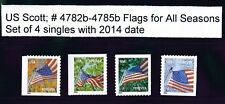 US Scott # 4782b - 4785b  2014 Forever Flag For All Seasons set of 4 Singles