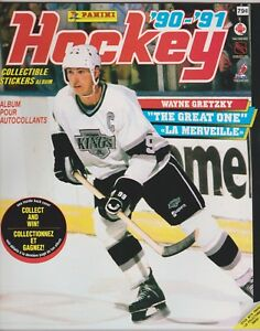 1990-91 Panini Hockey Sticker Empty Album Canadian VERSION