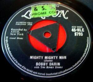 "Bobby Darin Mighty Mighty Man 7""UK ORIG Tri-Centre 1959 London You're Mine VINYL"