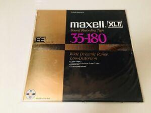 "Maxell XLII 35-180 EE 10.5"" X 1/4"" Metal Reel to Reel Mastering Tape NEW"