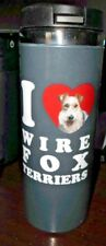 I Love Wire Fox Terriers Hot Cold Insulated Coffee Cup Stainless Steel