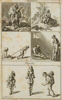 CHODOWIECKI (1726-1801). Illustration lateinischer Numera und Grammatik 1
